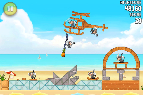 Angry Birds Rio Beach Volley voor iPhone en iPod touch