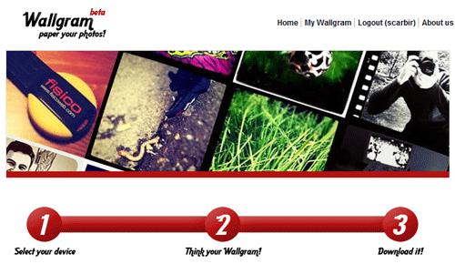 Instagram toepassingen Wallgram