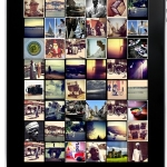 Instagram toepassingen achtergrond op de iPad