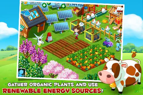 Green Farm iPhone screenshot schone energie