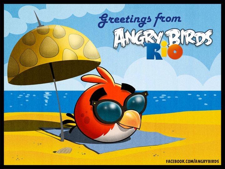 Angry Birds Rio op het strand