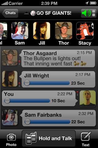 Sociale netwerken voor de iPhone Voxer