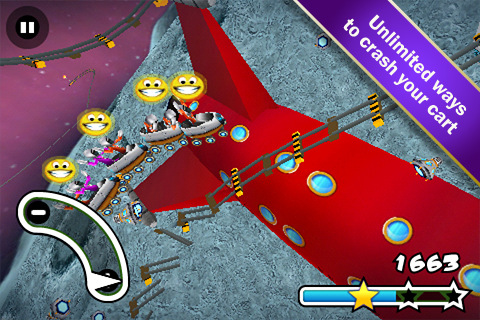 DI GU Lunar Rollercoaster Rush screenshot