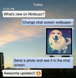 Nimbuzz voor iPhone update