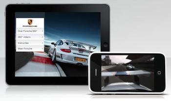 porsche 360 graden app
