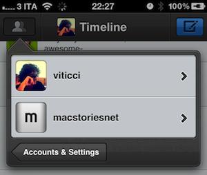Tussen accounts wisselen in Tweetbot 1.3