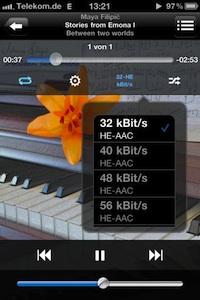 audiotap bitrate