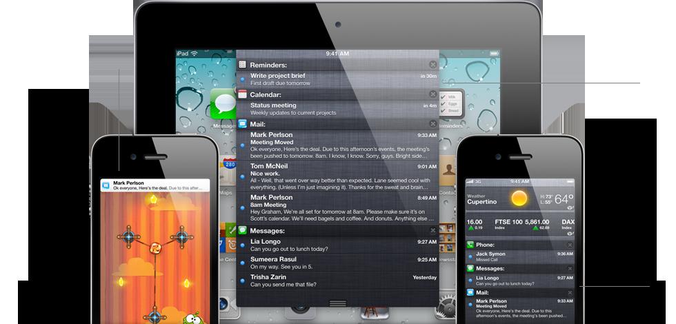 Berichtencentrum in iOS 5 geeft een overzicht van alle notificaties