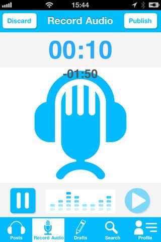 Blaving voor de iPhone audio opnemen