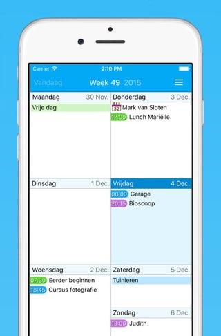 Easy Calendar in het Nederlands