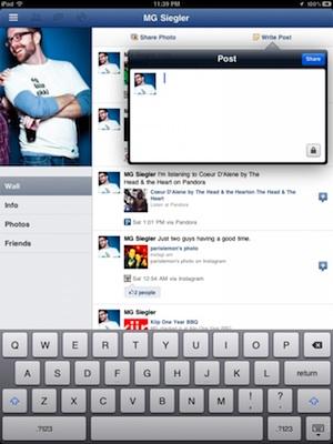 facebook ipad klein
