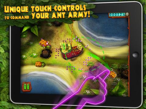 Ant Raid voor iPad strategiespel