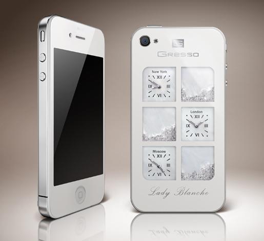 Gresso iPhone 4 Lady Blanche Diamonds