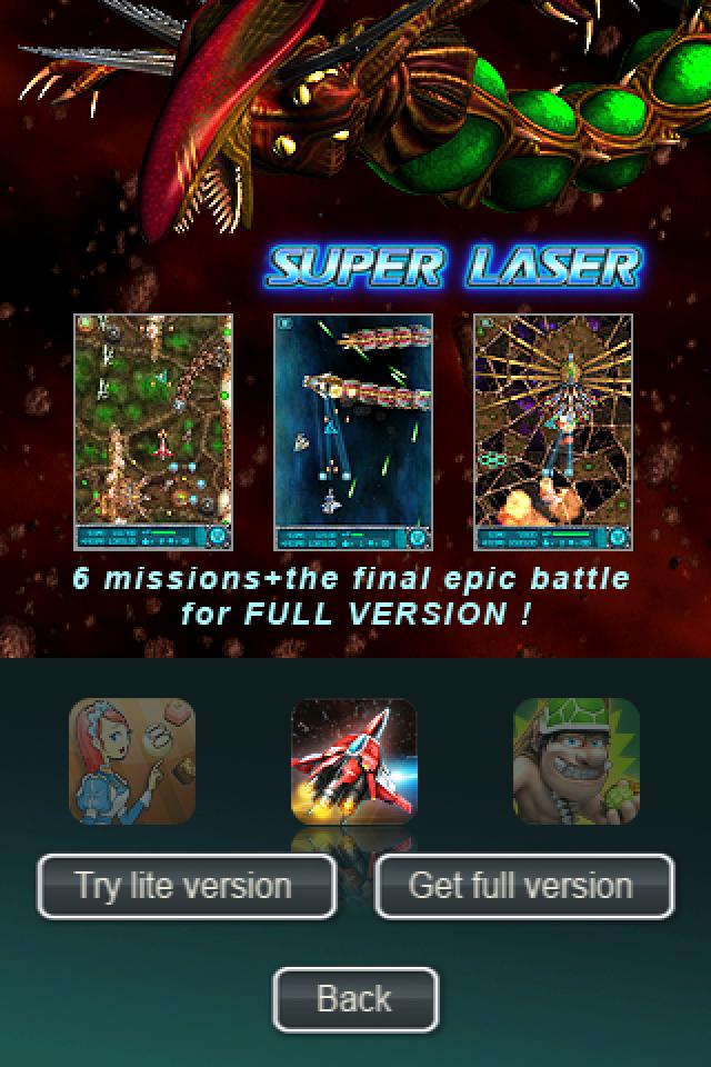 In de game iFighter 1945 zit reclame voor Super Laser: The Alien Fighter. Dat mag niet, zegt Lodsys.