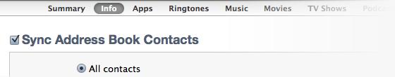 Contacten synchroniseren