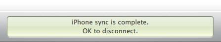 De synchronisatie is voltooid