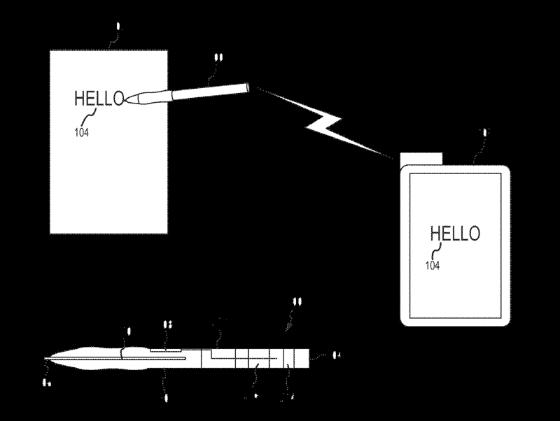 Patent stylus papier naar iPhone