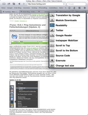 iCab Mobile voor de iPad vernieuwd