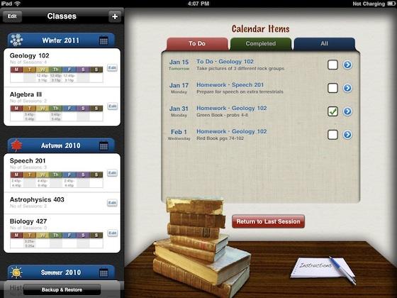 complete class organizer ipad