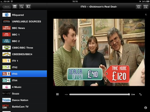 FilmOn voor de iPad screenshot