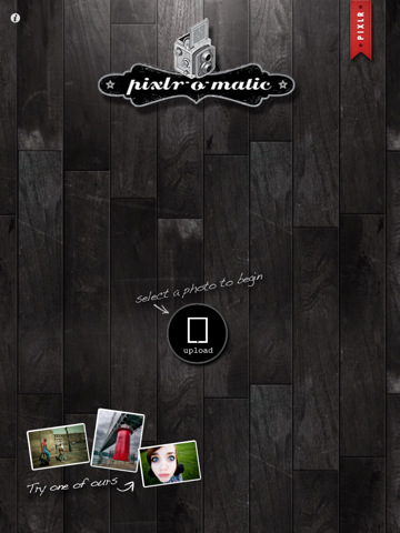 Pixlr-o-matic iPad beginnen