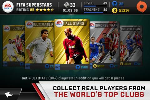 FIFA Superstars spelers kopen
