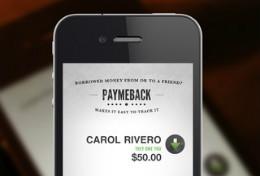 PayMeBack iPhone header