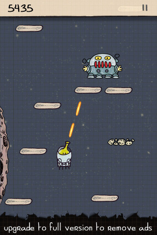 Doodle Jump Free iPhone iPod touch screenshot