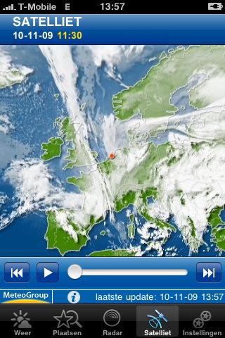 WeatherPro kaartje