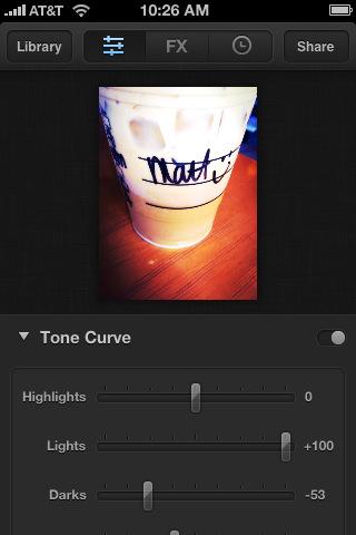 Luminance Tone Curve iPhone fotobewerking