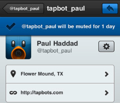 Tweetbot twitteraar muten iPhone iPod touch