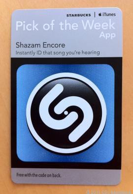 Starbucks gratis Shazam app bij koffie bestellen
