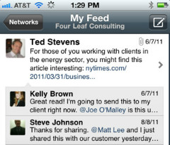 Yammer makeover iPhone app
