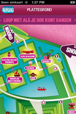Festival-app Mysteryland iPhone kaart