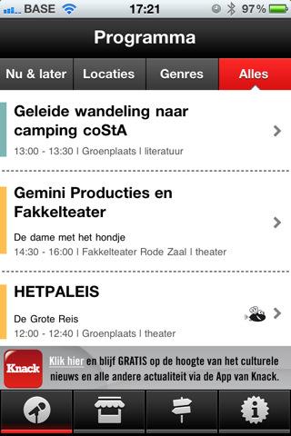 Festival-app Cultuurmarkt Antwerpen