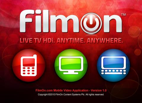 FilmOn voor de iPad header