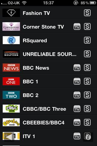 FilmOn Live TV iPhone zenders