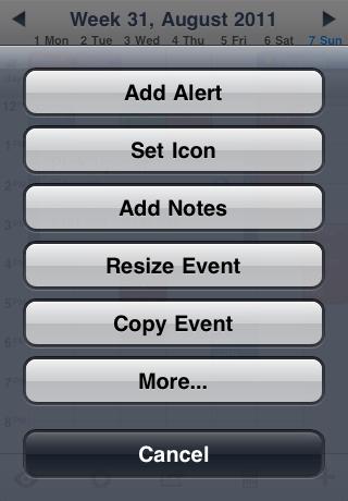Configureerbaar actie-menu