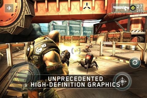 Shadowgun shooter iPad graphics