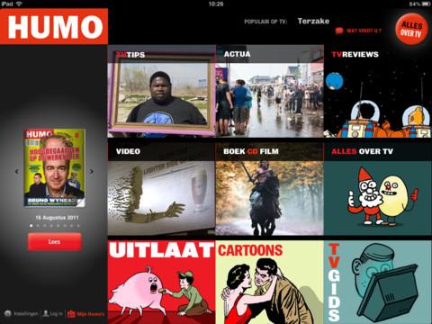 HUMO voor iPad magazine en tv-gids