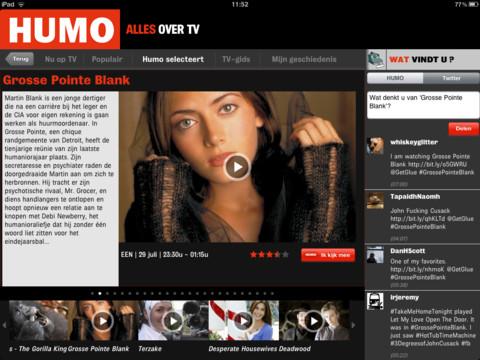HUMO Alles over tv-sectie