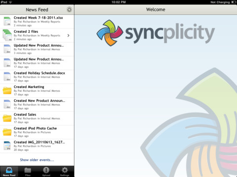 Syncplicity iPad app