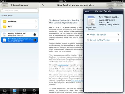 Syncplicity document lezen