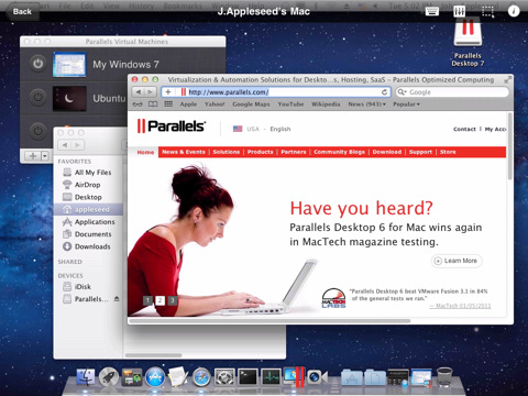 Mac OS X op de iPad met Parallels Mobile