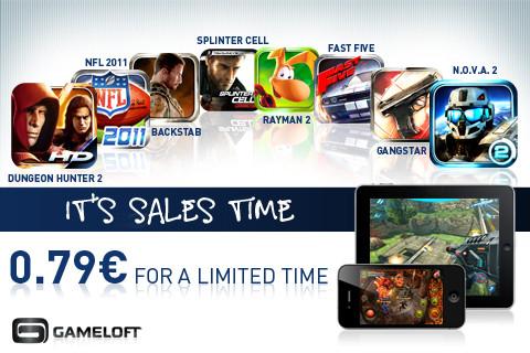 Aanbiedingen van Gameloft