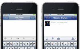Screenshot Twitter versus Facebook