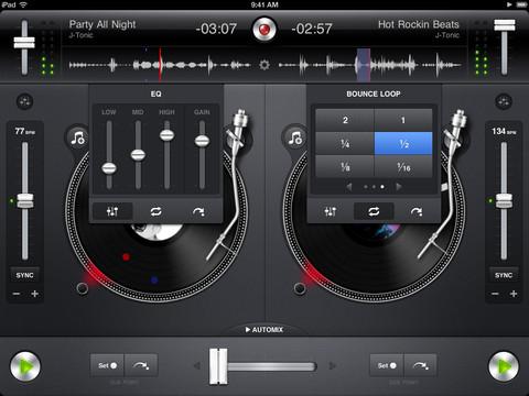 Djay voor iPad professioneel mixen
