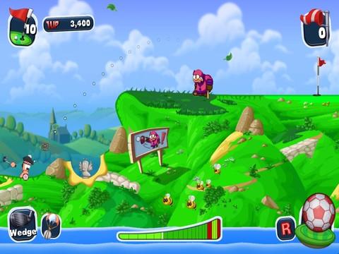 Worms Crazy Golf voor de iPad