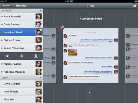 Verbs IM iPad header
