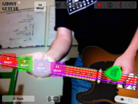 GhostGuitar camera in actie